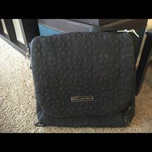 Petunia pickle bottom black diaper bag